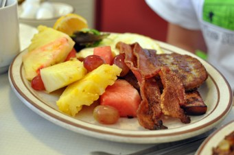 A Chuckwagon Breakfast with Fruit