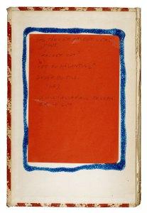 Bild på en boksida som har en vitröd kant, vit bakgrund och sedan en röd platta med blå kant. Inuti den röda plattan står det: Jag tänker att det vore fint. Räcker det? Vet du någonting? Duger du till? Nej. Vi vill i alla fall träffa er - gör.
