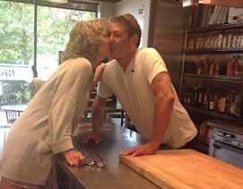Spotted: lovebirds in the kitchen.