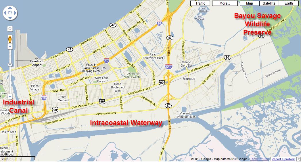 New Orleans East Boundaries