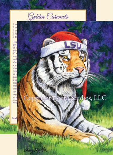 LSU Christmas Cards Mike The Tiger Artist Craig A Routh