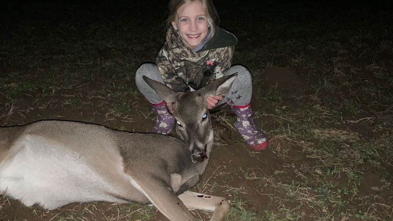Emma's first deer