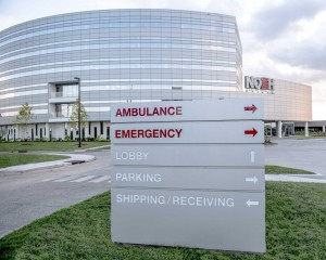 The façade of the New Orleans East Hospital