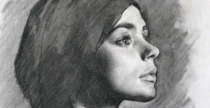 portrait drawing technique with charcoal louis smith