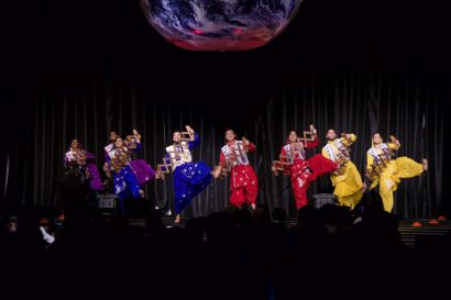 Cardinal Bhangra dance group closing the show