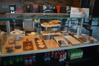 The Ekstrom Starbucks' bakery items and juices.
