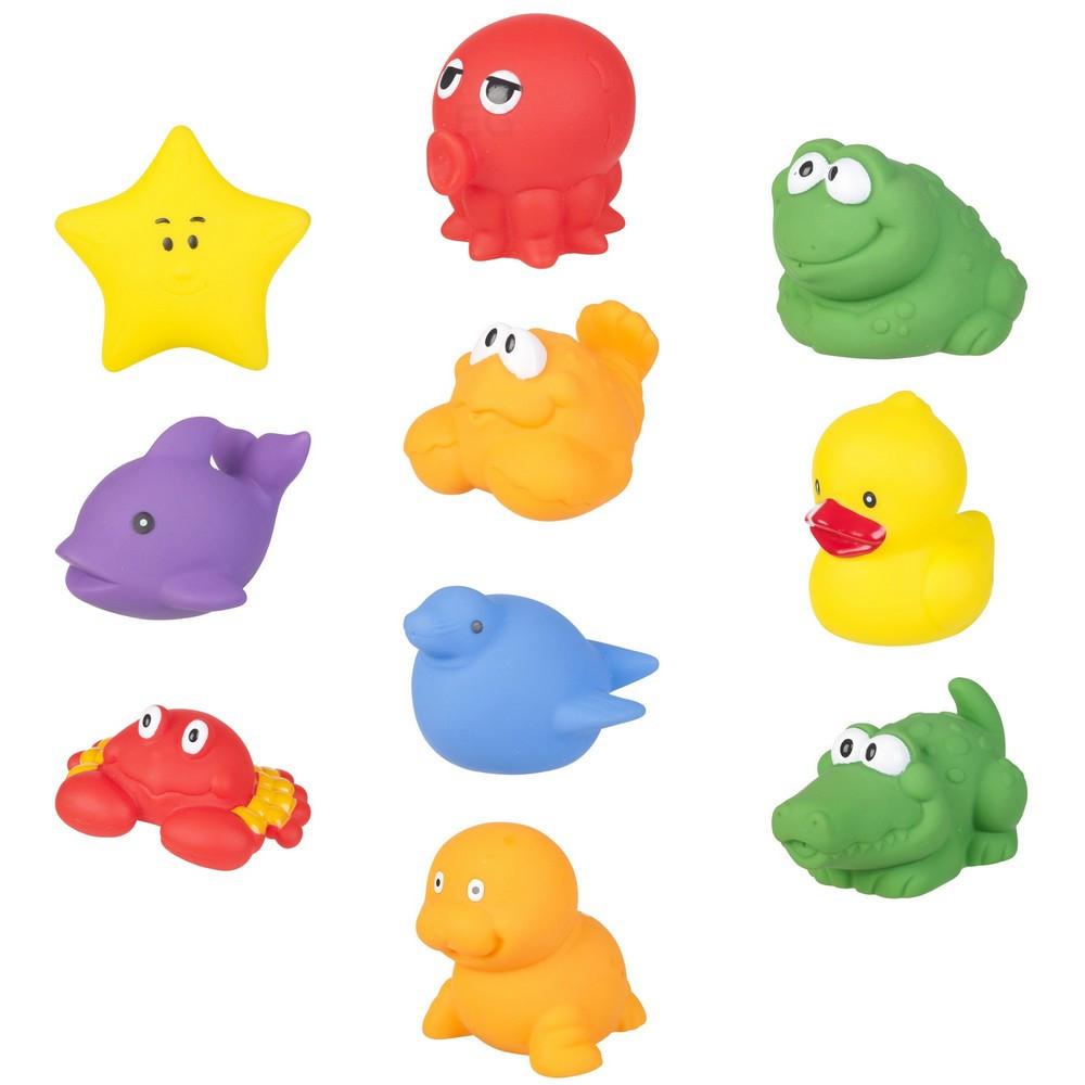 Lot de 10 jouet pour le bain enfant bb figurine animal  Salle de bain  Loulomax