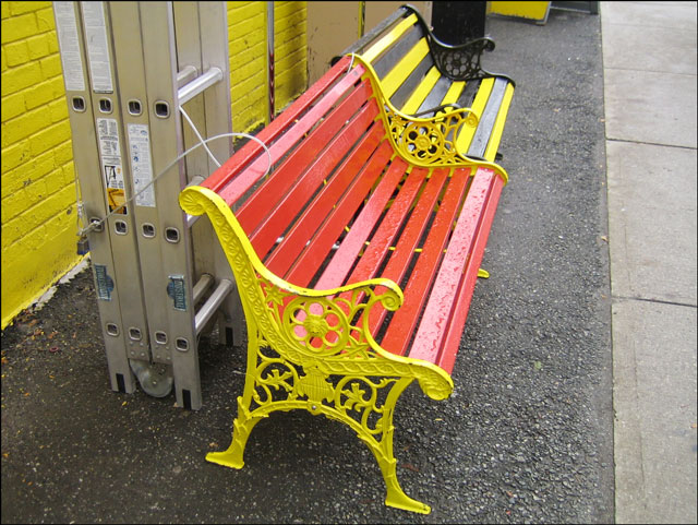 yellow-bench