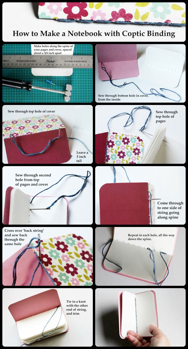 how to make a notebook coptic-binding-tutorial