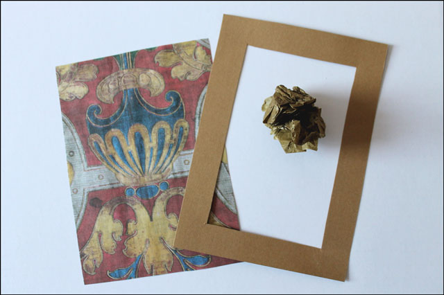 making-card-with-tissue paper