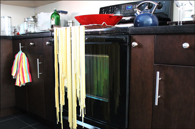 makeshift-pasta-drying-rack