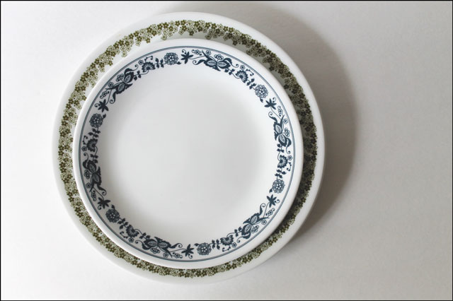 thrifted-corelle-plates
