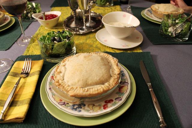 dinner-with-turkey-pot-pies