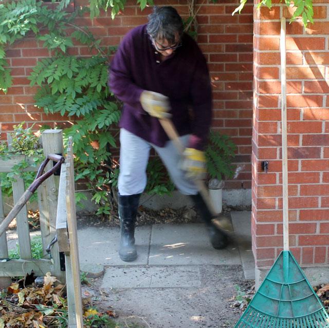 nick-sweeping-outside