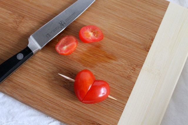 heart made from tomatoes