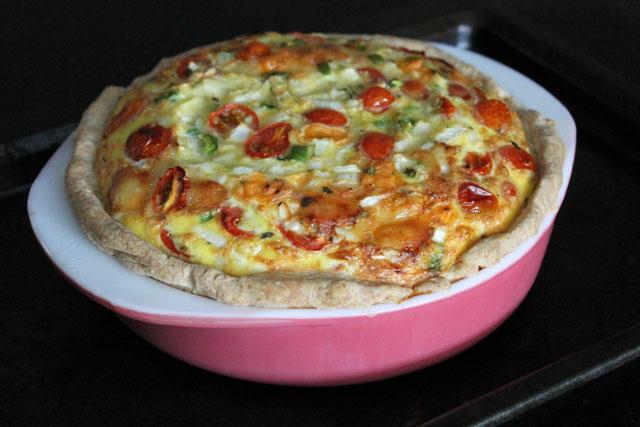 swiss-cheese-onion-and-grape-tomato-quiche