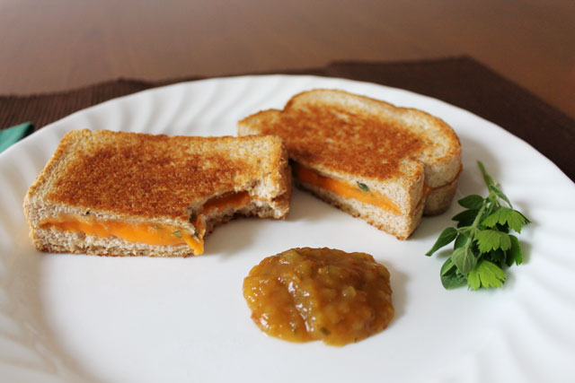 fresh-herb-grilled-cheese-sandwich-with-matouks-hot-sauce