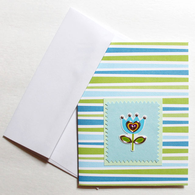 easy-greeting-card-to-make-with-a-flower-sticker