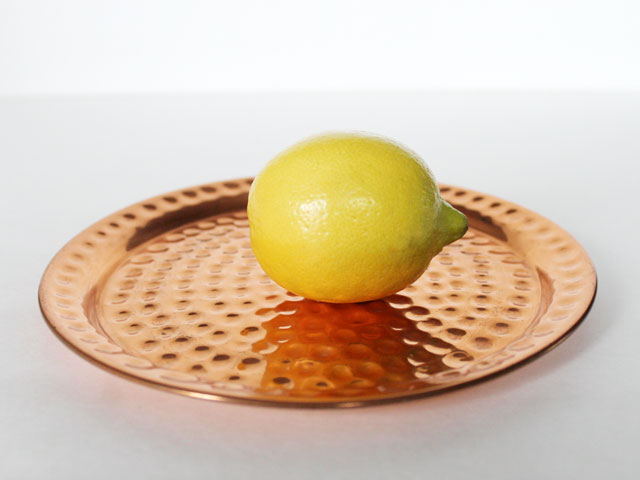 thrifted-small-copper-tray-trivet-coaster