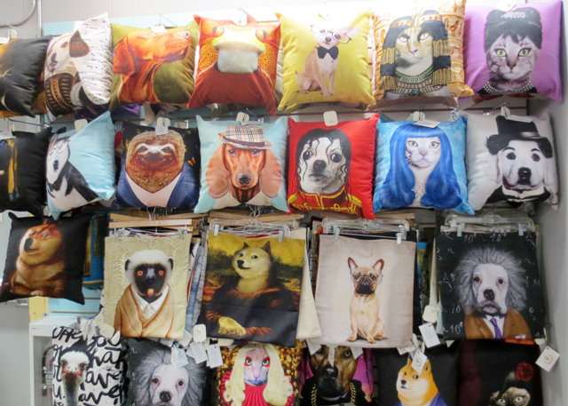 funny-cushion-covers-blue-banana-kensington-market-toronto