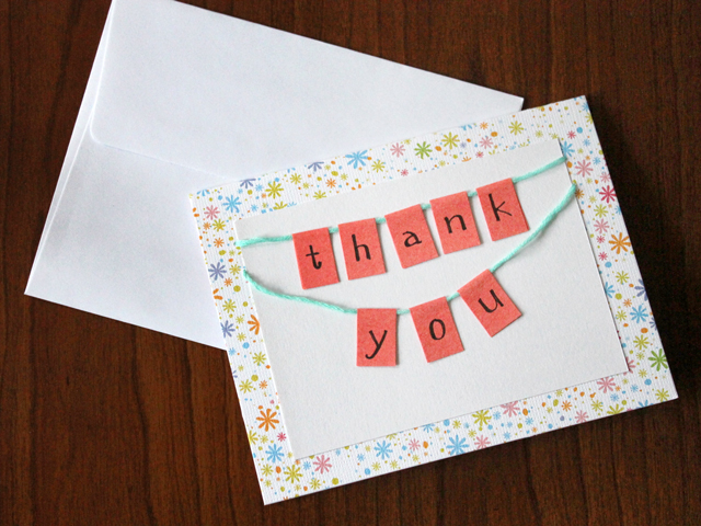 How To Make A Thank You Card Easy