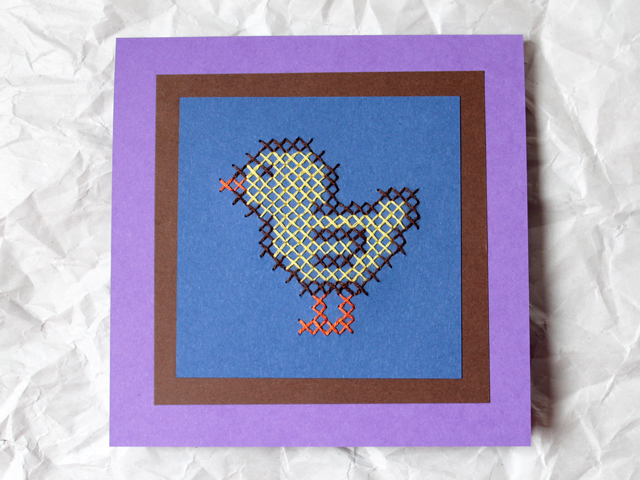 handmade-greeting-card-easter-cross-stitch-chick