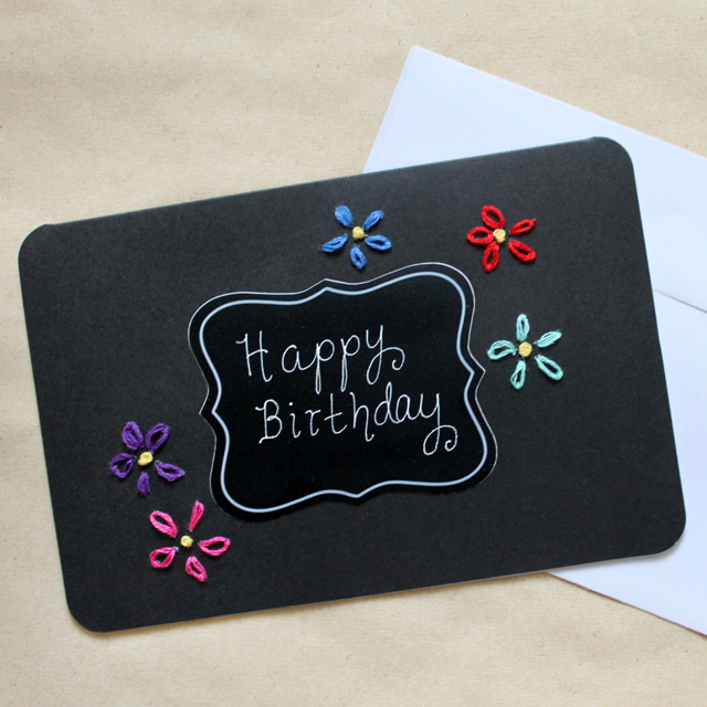 how-to-make-handmade-greeting-card-bright-embroidery-on-black-paper