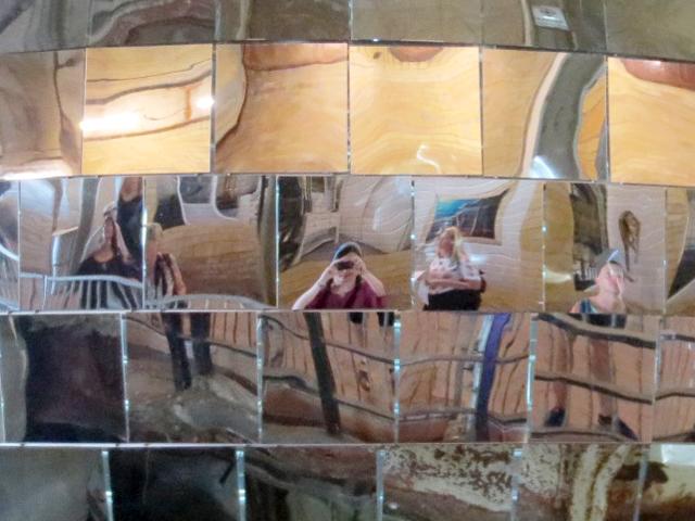 reflection-in-big-mirror-ball