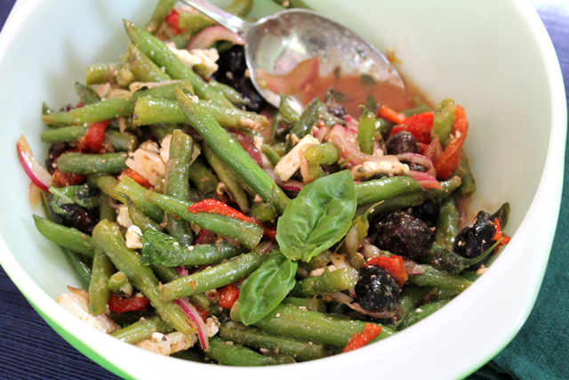 marinated-antipasto-salad-with-green-beans-roasted-peppers-olives-feta-basil