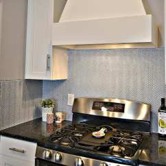 Blue Tile Backsplash Kitchen Condo Remodel Herringbone Lou Girls