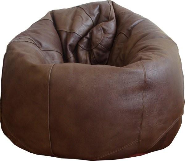 a large leather beanbag pod