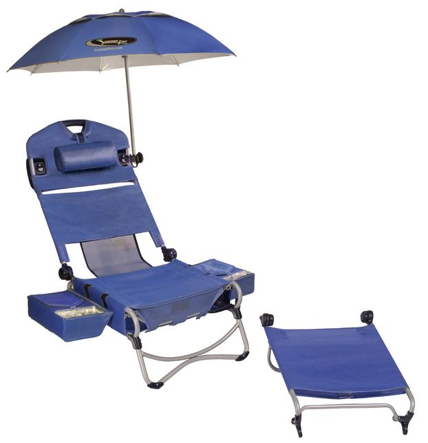 beach chairs with footrest accent turquoise loungepac chair winner