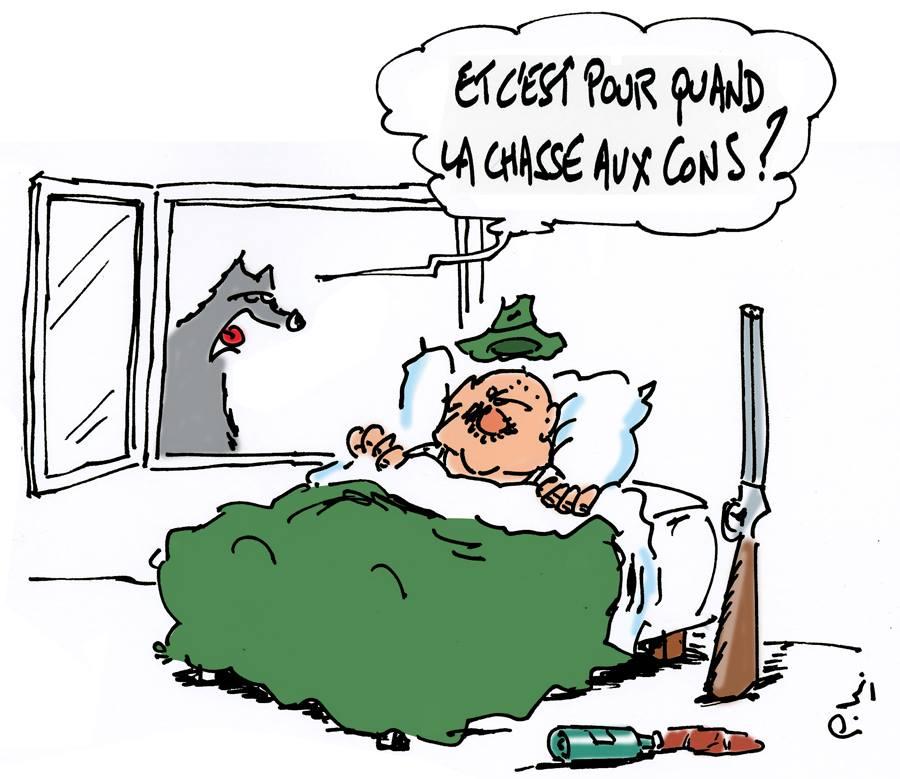 Humour lupin 32 site officiel de l 39 association le klan - Dessin de chasse ...