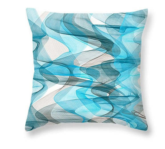 Throw Pillows using Yellow and Gray Teal Turquoise Red