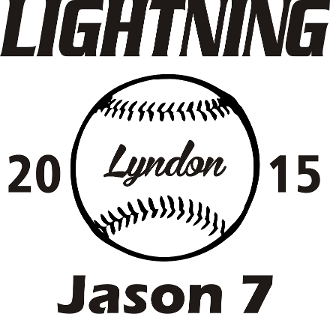 Lyndon Lightning Car decal includes player name