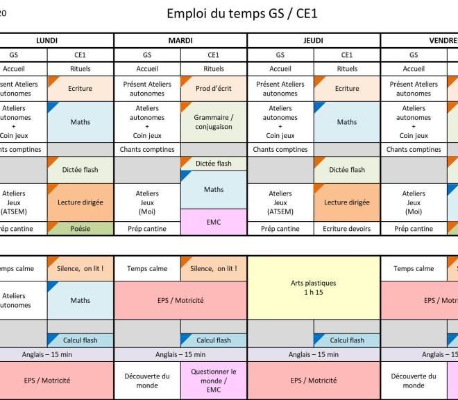 Comment gérer une classe de GS / CE1 ?