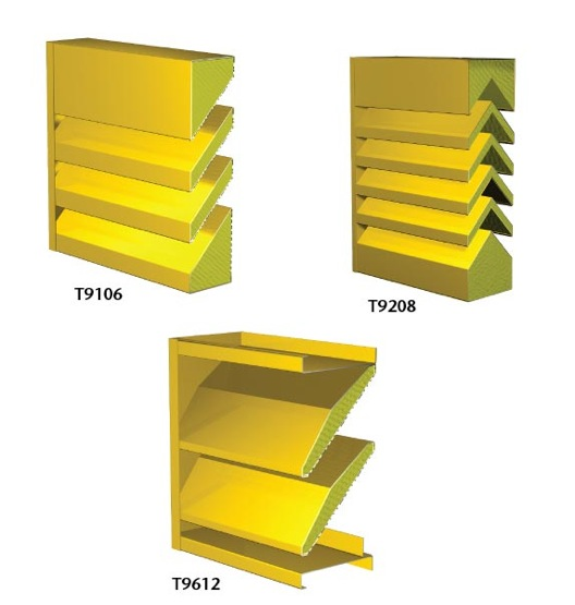 Acoustic Louver Blade Sizes