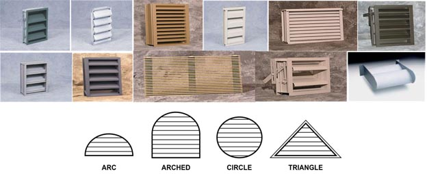 Commercial Style Extruded Aluminum Louvers, For Quick Ship, Mill Finish, All Sizes