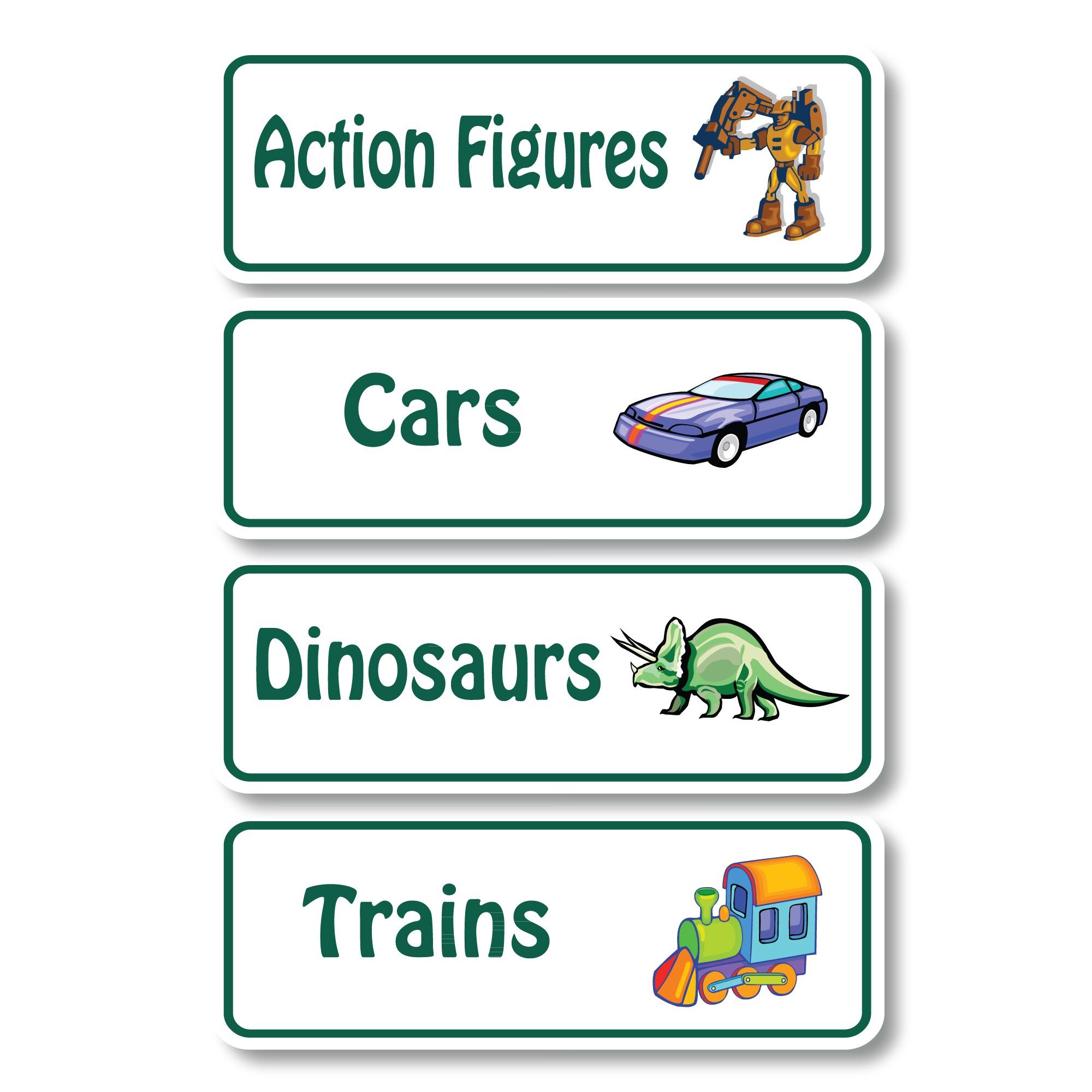 Toybin Toy Bin Labels