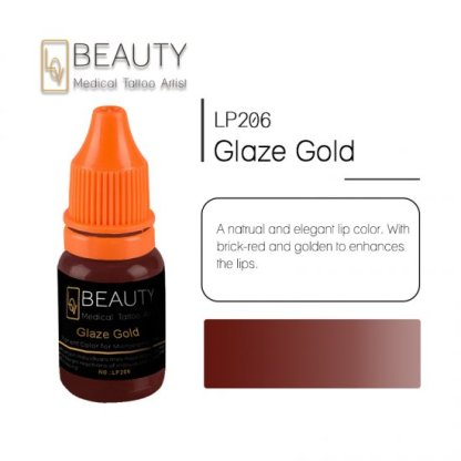 Microblading pigment for permanent makeup Glaze Gold