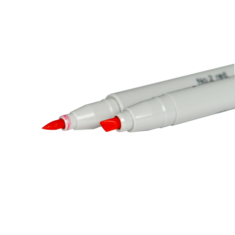 Red Double Headed Alcohol Based Ink Marker Pen origin in Japan