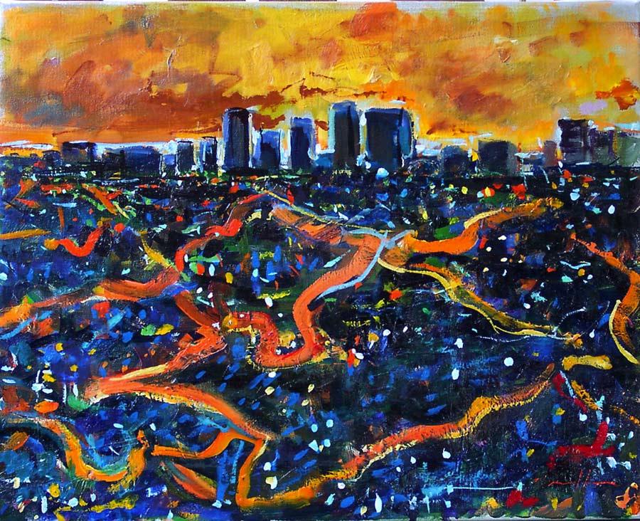 City Lights Painting