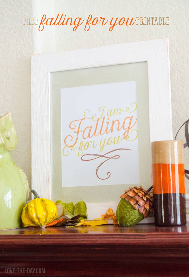 picture relating to Printable Fall Decorations titled 25 Absolutely free Slide Decor Printables - The Cow Place Housewife