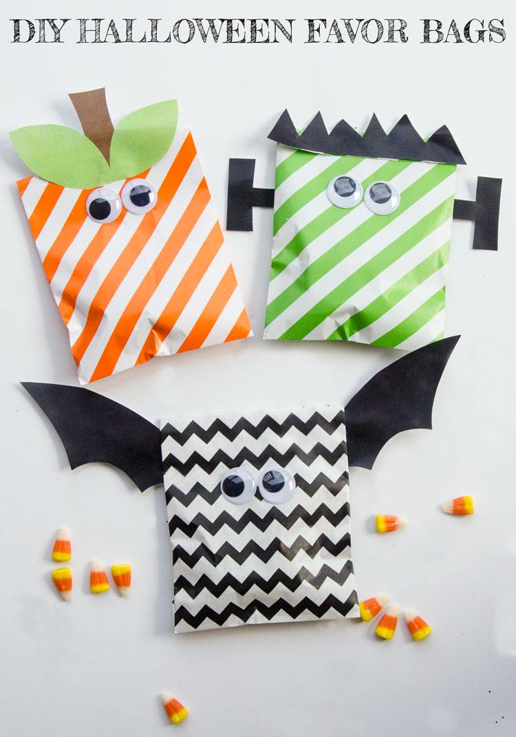 DIY Halloween Treat Bags & Free Printable by Love The Day