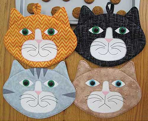 Allie Cats Hot Pad Sewing Pattern Love To Sew