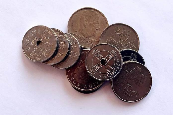 mynt penger seddel verdi kapital omsetning spekulant
