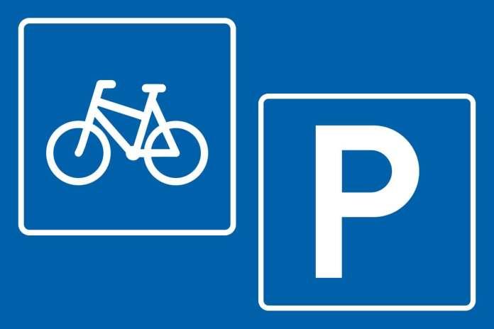 sykkel parkering bil veiskilt