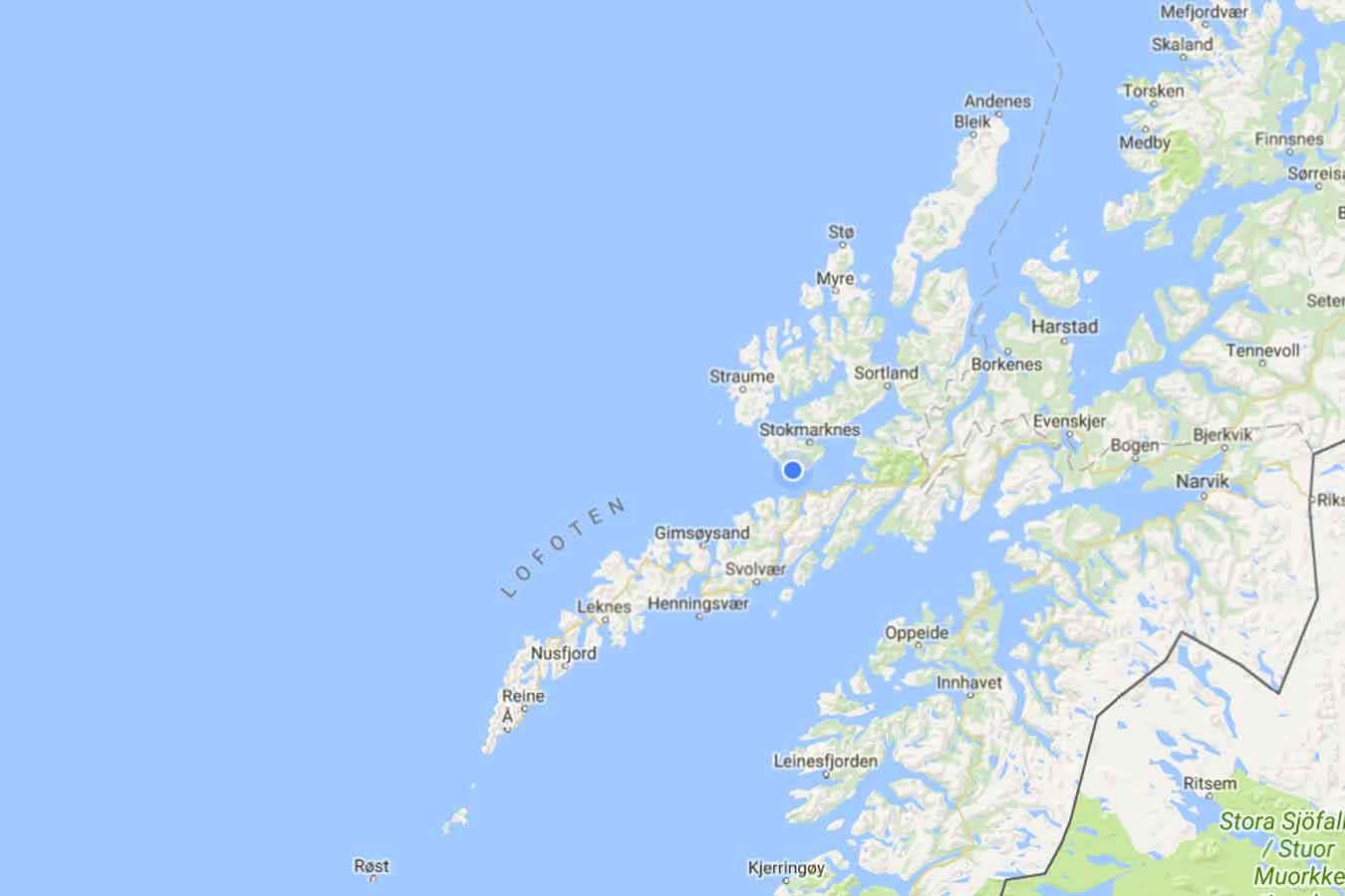 kart lofoten vesterålen