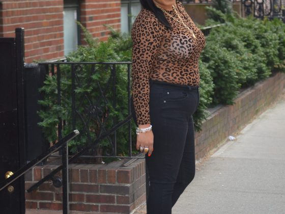 Leopard print with Black Jeans