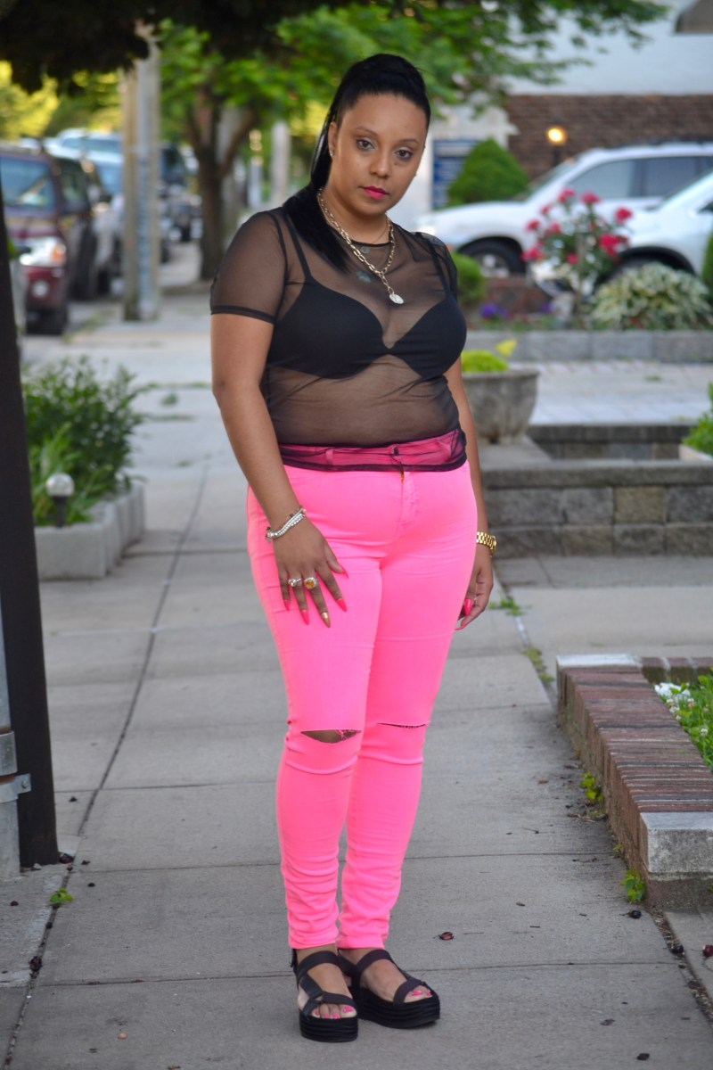 Hot Pink Jeans for Summer